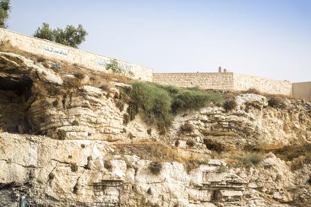Golghota bekend als Garden Tomb, Jerusalem, Israel, Middle East