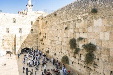 israel people: People praying at Western Wall, Jerusalem, Israel