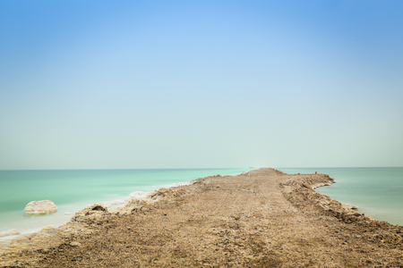 minimize: Dead Sea Bank - earthwork is done to minimize evaporation.