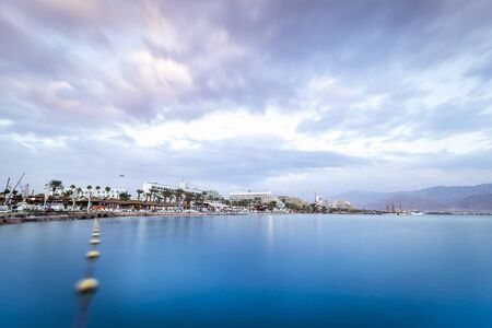 eilat: Beautiful sunset over Red Sea in Eilat, Israel, Middle East