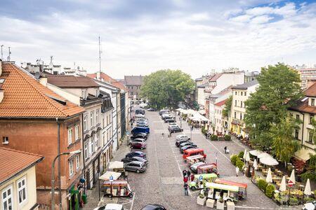 szeroka: Szeroka Street, main place in Jewish district called Kazimierz in Krakow, Poland