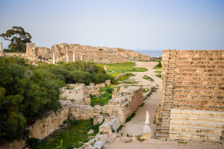 apostle paul: Amphitheater in ancient city of Salamis located in eastern part of Cyprus.