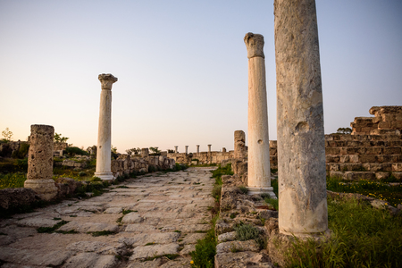 apostle paul: Ancient city of Salamis located in eastern part of Cyprus, Northern Cyprus