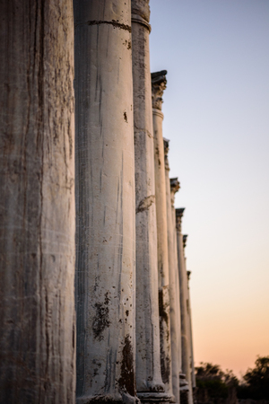 apostle paul: Pillars in a row in Salamis located in eastern part of Cyprus, Northern Cyprus Editorial