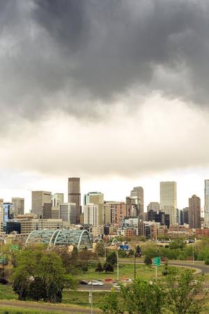 Skyscrapers in a mile high Denver downtown, Colorado, USA
