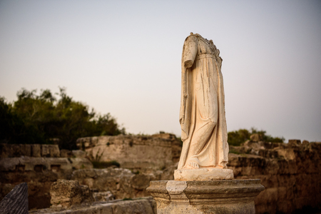 apostle paul: Monument without head in ancient city of Salamis, Northern Cyprus.