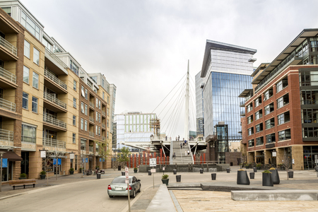 mile high city: Luxury residential buildings in Denver downtown, Colorado, USA Editorial