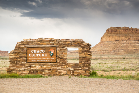 chaco: Chaco Culture National Historical Park. Stock Photo