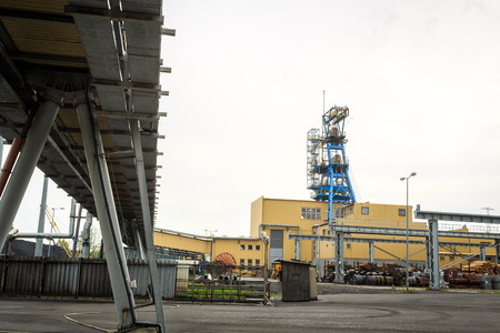 conveyors: Mining infrastructure. Shaft, conveyors and buildings in Silesia, Poland