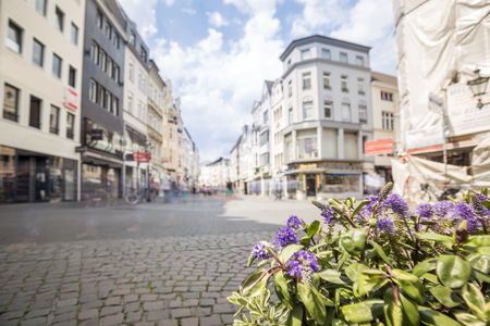 west germany: Main street in Bonn, former capital city of West Germany, Europe Stock Photo