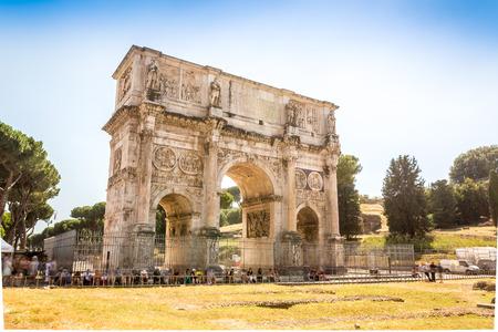 constantine: Arch of Constantine, landmark of Rome, Lazio, Italy Stock Photo