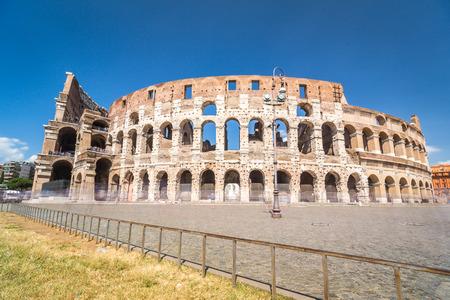 Colosseum in Rome, landmark of Lazio, Italy Stock Photo