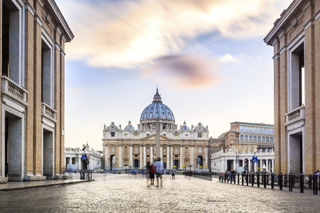 Saint Peters Basilica and square in Vatican City, Rome, Italy