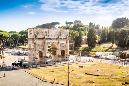 Arch of Constantine, landmark of Rome, Lazio, Italy Stock Photo