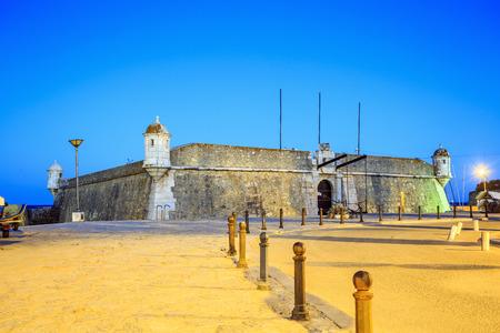 Ponta da Bandeira Fortress, Lagos, Algarve, Portugal Editorial