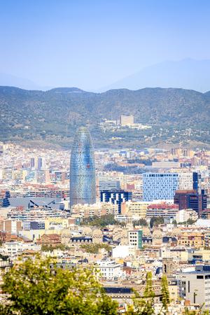 montjuic: Barcelona panorama with Torre Agbar, Catalonia, Spain