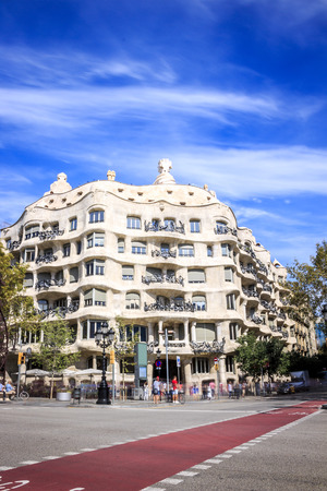 Casa Mila or Pedrera by Antonio Gaudi, Barcelona, Spain