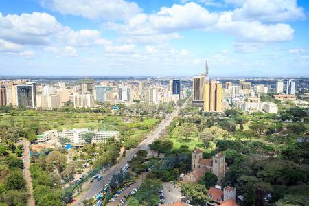Nairobi stadslandschap - hoofdstad van Kenia, Oost-Afrika