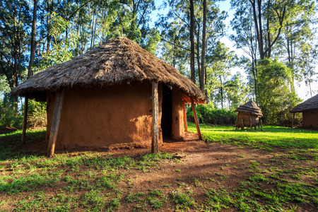 Traditional, tribal hut of Kenyan people, Nairobi, East Africa