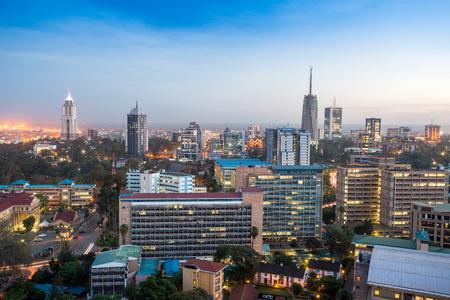 Modern Nairobi stadslandschap - hoofdstad van Kenia, Oost-Afrika