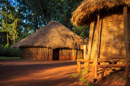 Traditional, tribal village of Kenyan people, Nairobi, East Africa