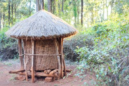 Traditional, tribal granary of Kenyan people, Nairobi, East Africa