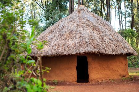Traditional, tribal hut of Kenyan people, Nairobi, East Africa