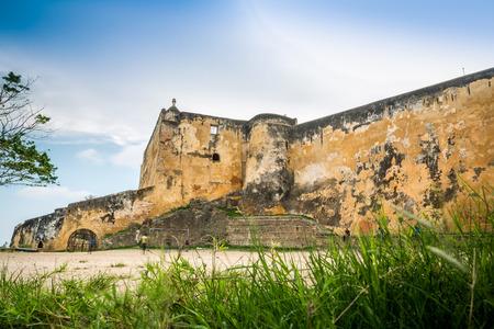 tourist attraction: Fort Jesus Museum in Mombasa, Kenya, East Africa