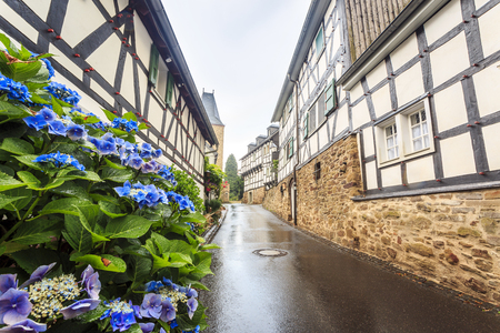 Traditional prussian wall in architecture at historic Blankenberg, Germany
