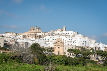 characteristic: White city of Ostuni panorama, Puglia, Italy