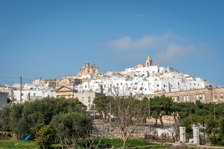 White city of Ostuni panorama, Puglia, Italy