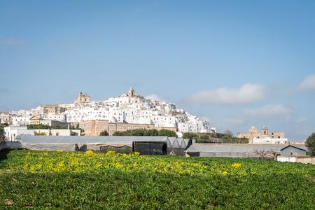 White city of Ostuni panorama, Puglia, Italy