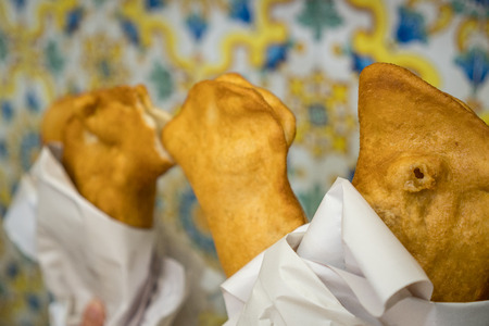 Traditional Fritta food from Brindisi, Italy, Europe