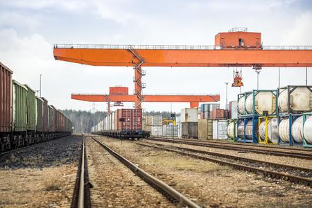 Huge industrial overhead crane needed to railway transshipment