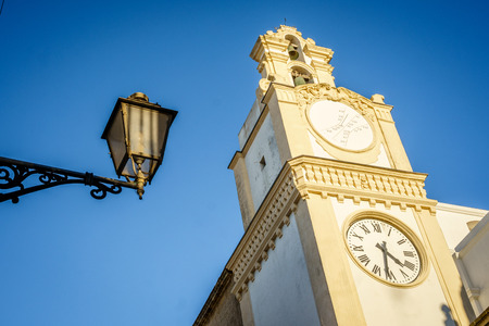 Cathedral of Saint Agatha in beautiful Gallipoli, Italy Stock Photo