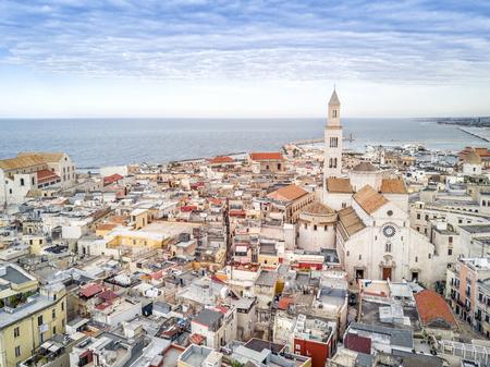 Panoramic view of old town in Bari, Puglia, Italy 写真素材