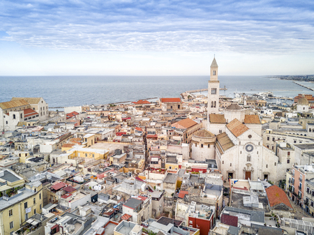 Panoramic view of old town in Bari, Puglia, Italy Stok Fotoğraf