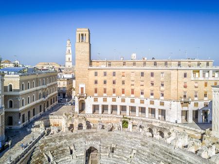 Historic city center of Lecce in Puglia, Italy