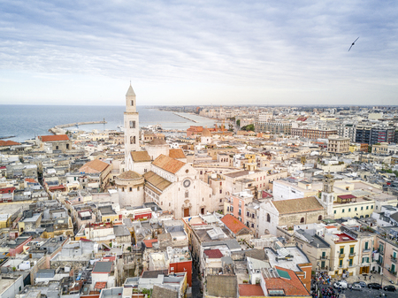 Panoramic view of old town in Bari, Puglia, Italy Stock Photo