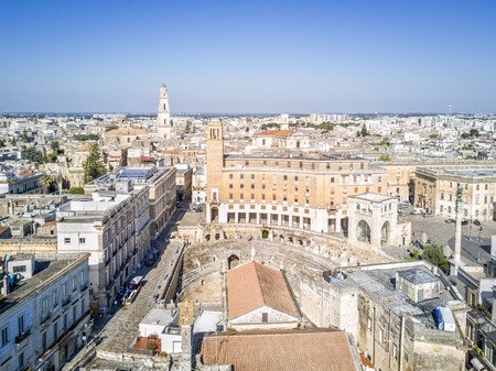Historic city center of Lecce in Puglia, Italy