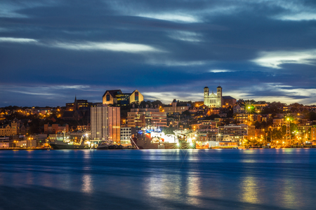 St Johns cityscape at the evening, capital of Newfoundland and Labrador, Canada