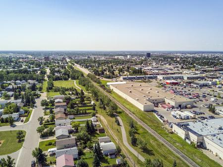 Residential area of Grande Prairie in Alberta, Canada