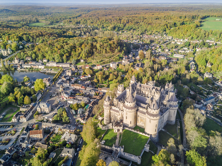 Amazing castle in Pierrefonds in natural surrounding, France