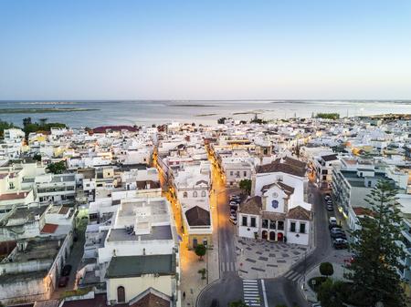Traditional portuguese architecture in Olhao da Restauracao, Algarve, Portugal Stock Photo