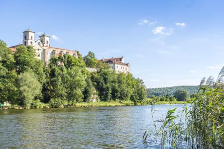 Benedictine Abbey at sunny summer day, Tyniec, Krakow, Poland