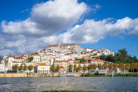 Coimbra cityscape seen from Mondego river, central Portugal