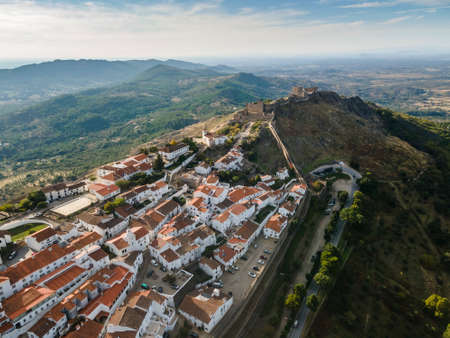 Amazing Marvao with the castle located on top of the hill in Alentejo, Portugal