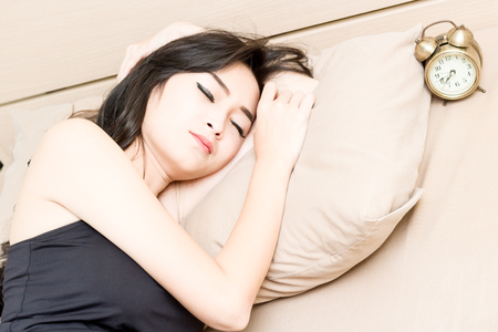 beautiful asian women dont want wake up in the morning