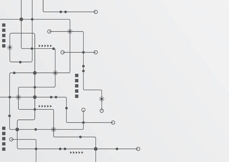 Abstract geometric connect lines and dots.Simple technology graphic background.Illustration Vector design Network and Connection concept. Stok Fotoğraf - 130715132