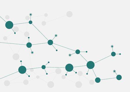 Lignes et points de connexion géométriques abstraites. Fond graphique de technologie simple. Illustration vectorielle Concept de réseau et de connexion.